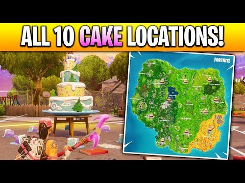 All Ten Locations Of The Birthday Cakes Fortnite