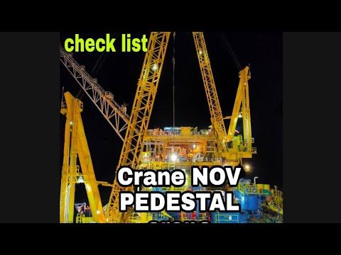 Chek List Crane NOV Pedestal. #AWB ASL Offshore 1