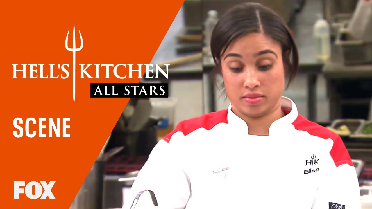 Elise Michelle Get Frustrated With Each Other Season 17 Ep 16 Hell S Kitchen All Stars