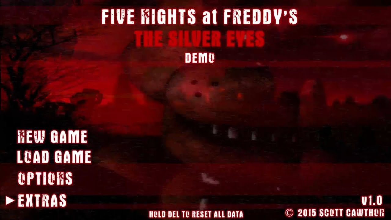 Fnaf the silver eyes gameplay demo teaser trailer fan made youtube