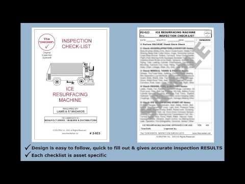 Ice Resurfacing Machine Inspection Checklist  #2-023 The Checker