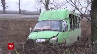 На Полтавщині маршрутка не розминулася із вантажівкою