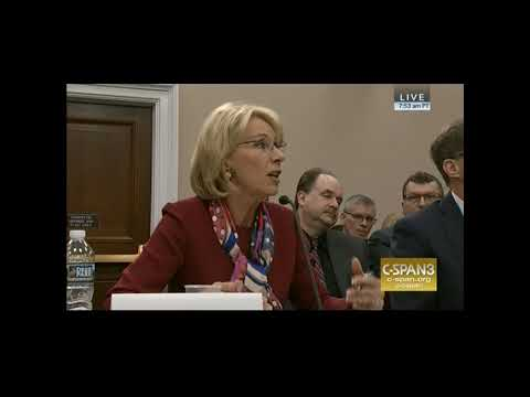 Rep Lee Demands Answers from Ed Sec Betsy DeVos  part 1