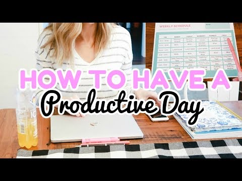 HOW TO HAVE A PRODUCTIVE DAY | BALANCING IT ALL!