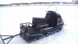 Homemade Snowmobile Sleigh