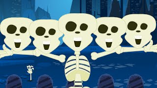 Five Little Skeletons | Halloween Song |Nursery Rhyme