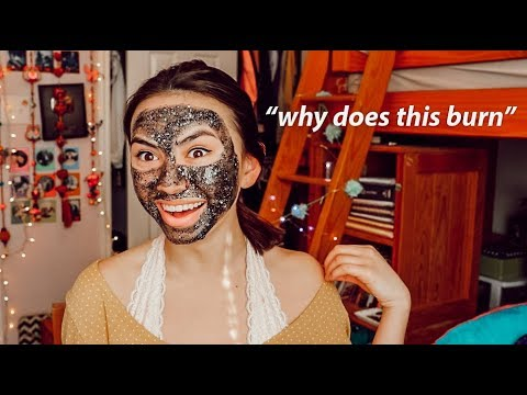trying the $70 glitter mask & chit chat