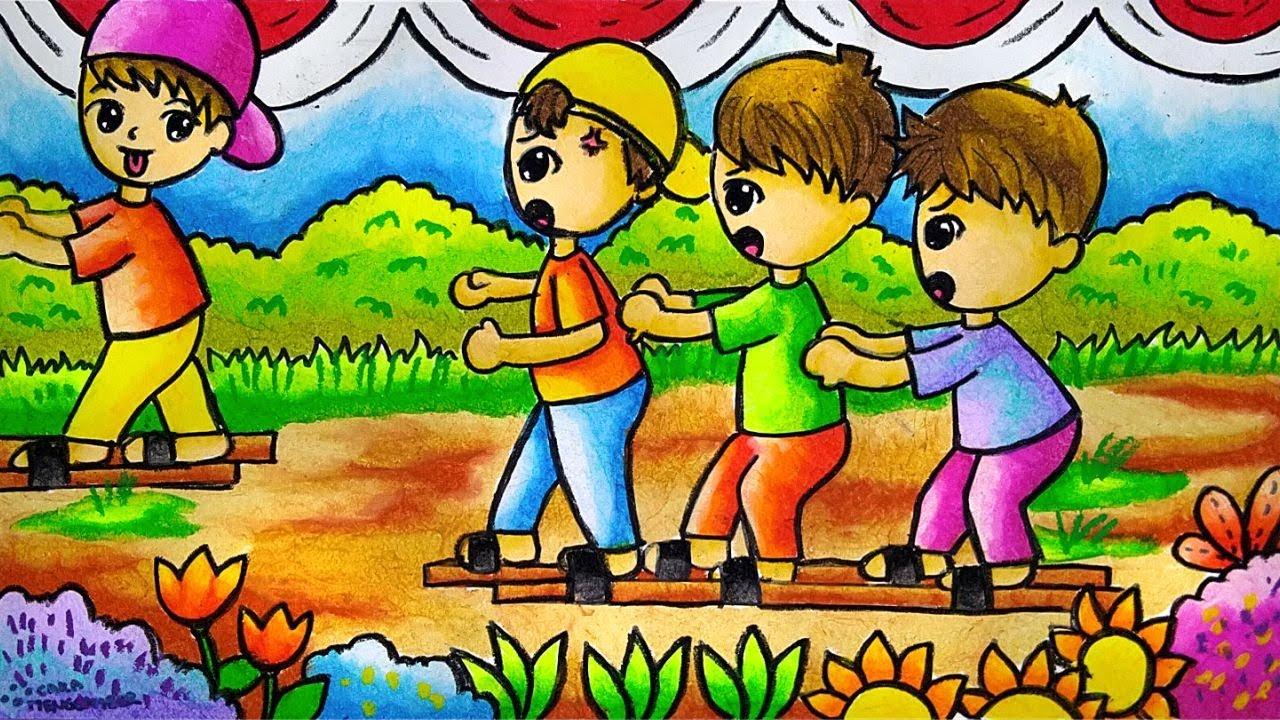 Cara Menggambar Dan Mewarnai Tema Lomba 17 Agustus Kemerdekaan Ri Yang Bagus Dan Mudah Ep 203 Youtube