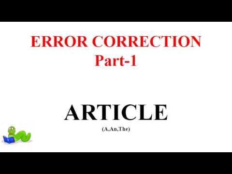 Error correction -Part -1 (ARTICLES) for SSC-CGL+MTS+CHSL+CPO+IBPS