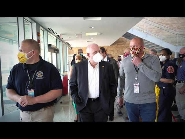 Governor Larry Hogan Visits Mass Vaccination Site at Montgomery College