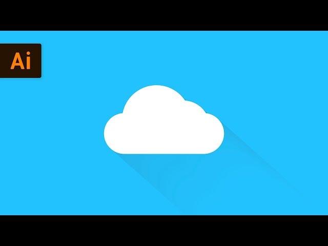 Flat Design Cloud Icon | Illustrator Tutorial