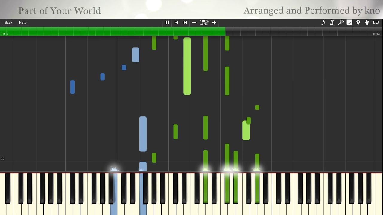 part of your world piano tutorial