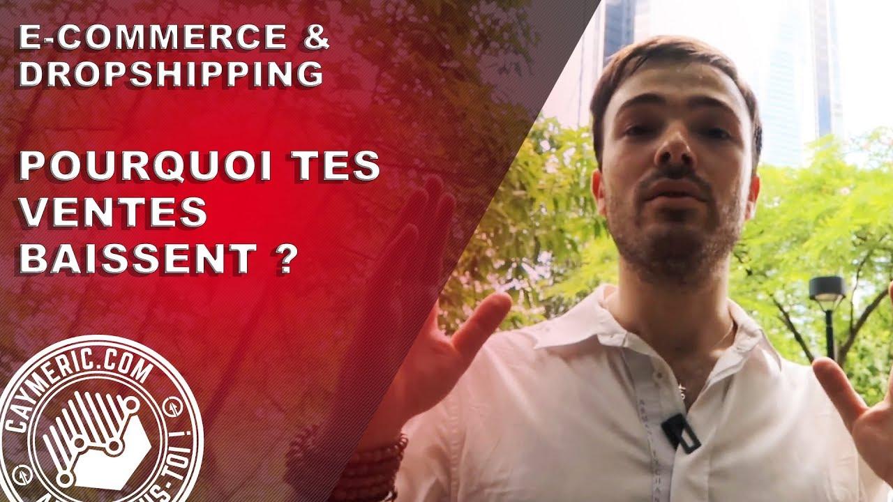 e-Commerce & Dropshipping : Pourquoi Tes #Ventes Baissent ?! (9 Raisons + 9 Solutions)