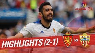 Resumen de Real Zaragoza vs UD Almería (2-1)