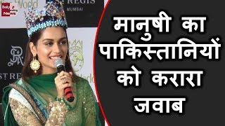 Manushi Chhillar STRONG reply to Pak Media on winning Miss World Watch