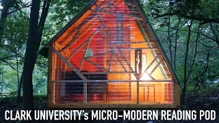 "Tiny ""reading Pod"" Cabin At Clark University Adult Builds By Tiny House Builder"