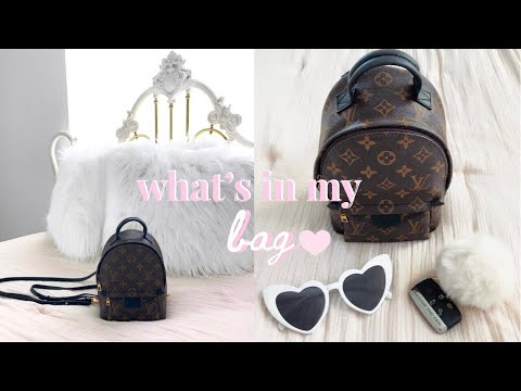 2019 What's In My Bag♡LV Palm Springs Backpack Mini + Review! thumbnail