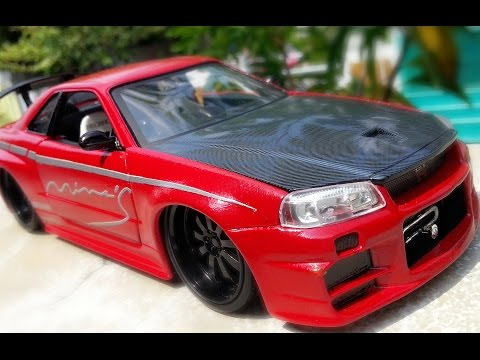 Amazing Transformation Nissan Skyline GTR R34 Fast and Furious Paul Walker (water slide decal)