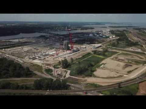 BP Husky's Oil Refinery And Cleveland-Cliff's HBI Construction Site, Toledo, Ohio