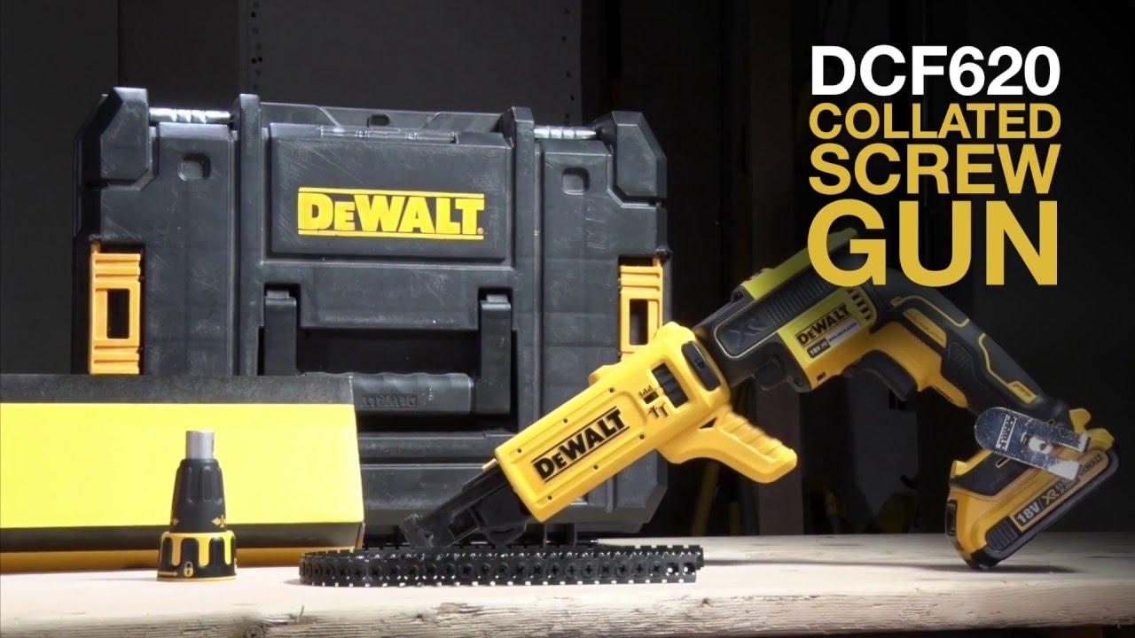 DCF6201 XR 18V Collated Brushless Drywall Screwdriver Screwgun Dewalt DCF620N