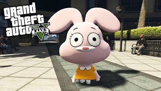 GTA 5 Mods - THE AMAZING WORLD OF GUMBALL MOD w/ ANAIS (GTA 5 Mods Gameplay)