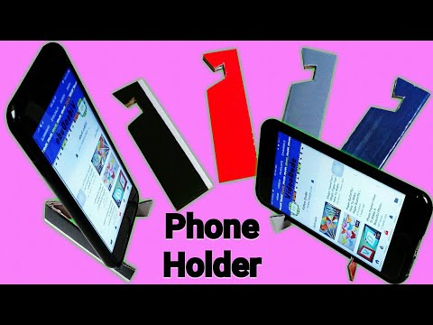 Phone Holder | How To Make A Phone Holder/Phone Stand | DIY Mobile  Phone Holder