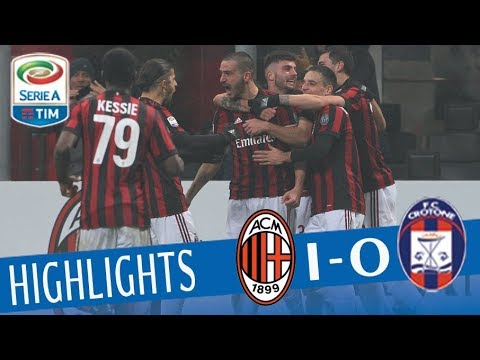 Milan - Crotone 1-0 - Highlights - Giornata 20 - Serie A TIM 2017/18