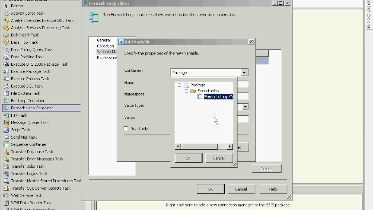 MSBI - SSIS - How To Combine The Foreach Loop And Execute SQL Task -  Part-102