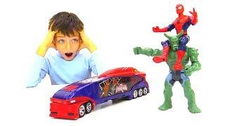 Человек-Паук и Зелёный Гоблин - Гонки на крутых машинках