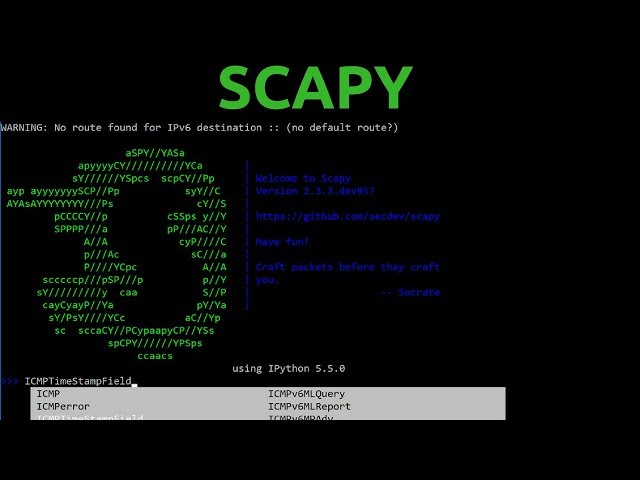 Scapy - Packet Manipulation & Sniffing