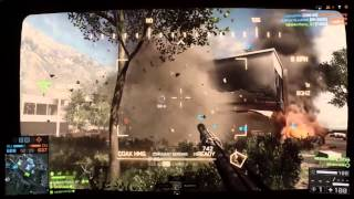 Battlefield 4 Lacang Dam T-90A BTR-90 Gameplay (PS4)
