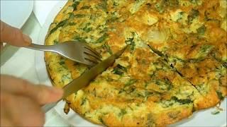 Омлет на Сковороде Сыр Спаржа Яйца  Фриттата Итальянский Рецепт