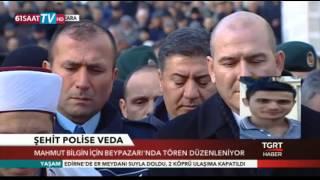 Trabzonlu Şehit Mahmut Bilgin gurbette son yolculuğuna uğurlandı