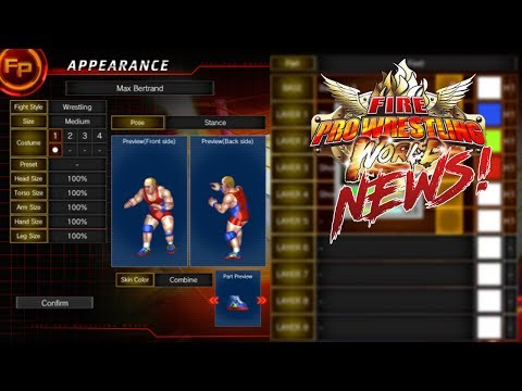 Fire Pro Wrestling World | News - UNLIMITED CAW SLOTS + Create Mode Info!
