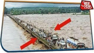 MP: डूबने के कागार पर नवनिर्मित पुल | लोग जान हथेली पर लेकर पार कर रहे पुल