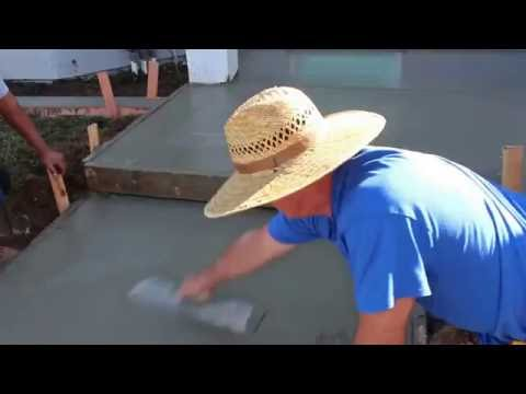 How to Form and Pour concrete for a porch and patio walkway with a retaining wall of pavers