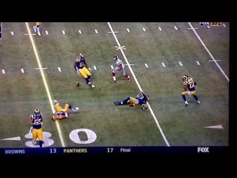 E.J. Gaines of the St. Louis Rams crushed by own teammate 12/21/14