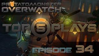 Overwatch Top 5 Plays Episode 34