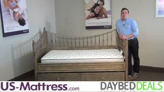 Acme Furniture Joshua Oak Daybed With Free Mattress