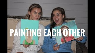 Painting Each other! | Sara Shellem