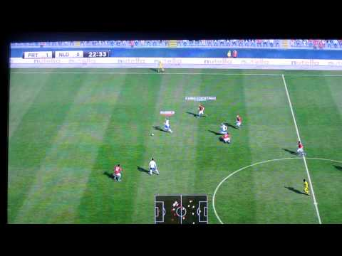 PES2012 Retail X360: Portugal VS Holland. 1st half ( 2-1 )