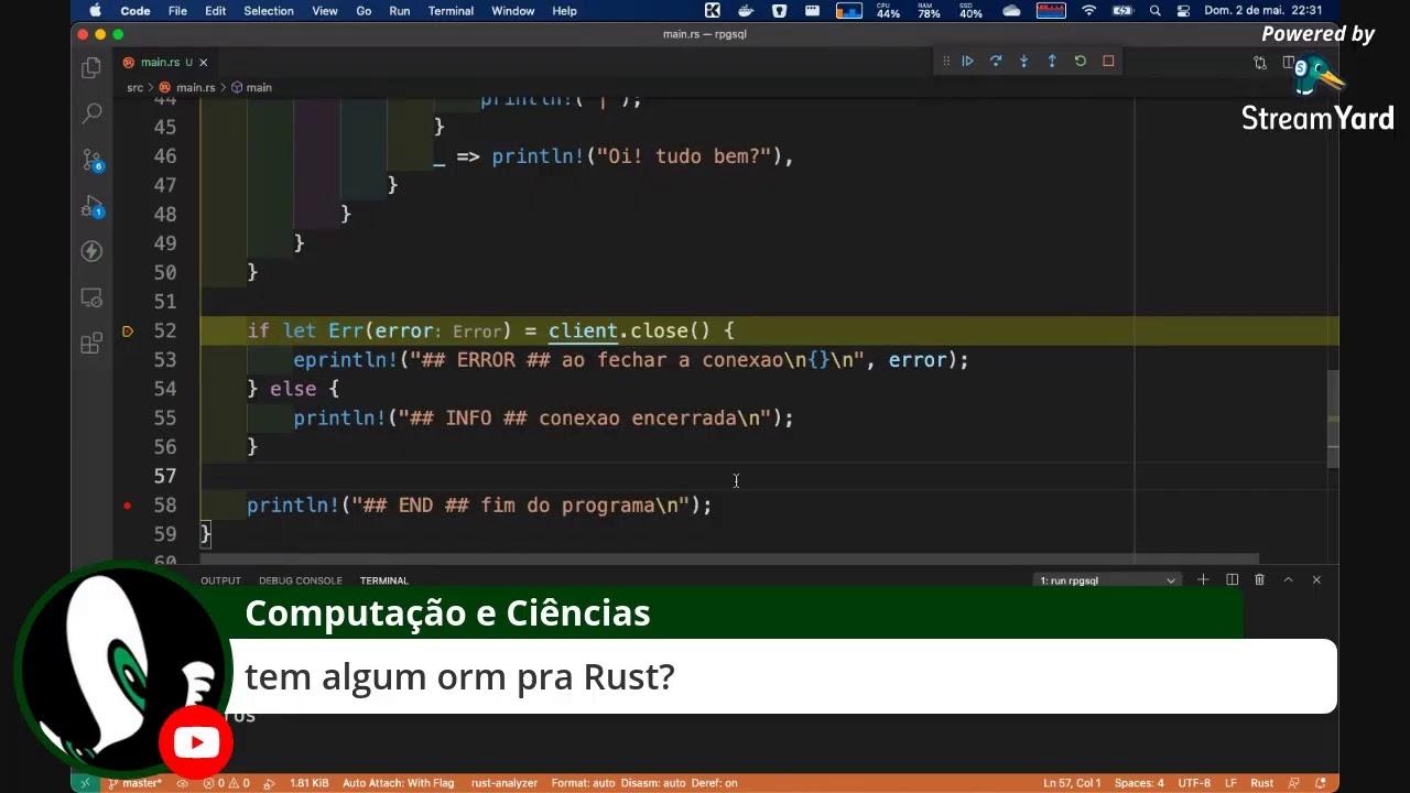 Rust + PostgreSQL - Parte 1 de 3