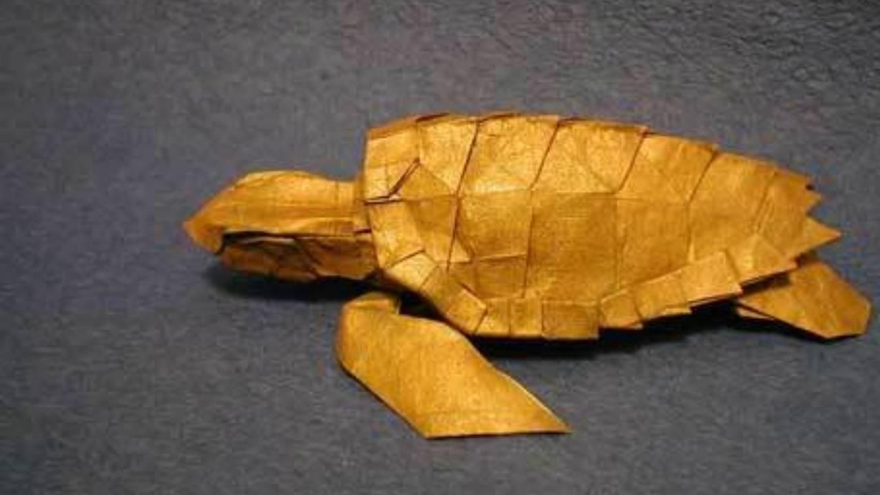 Loggerhead sea turtle origami instructions origami maker easy the creating of sea turtle by satoshi kamiya jeuxipadfo Image collections