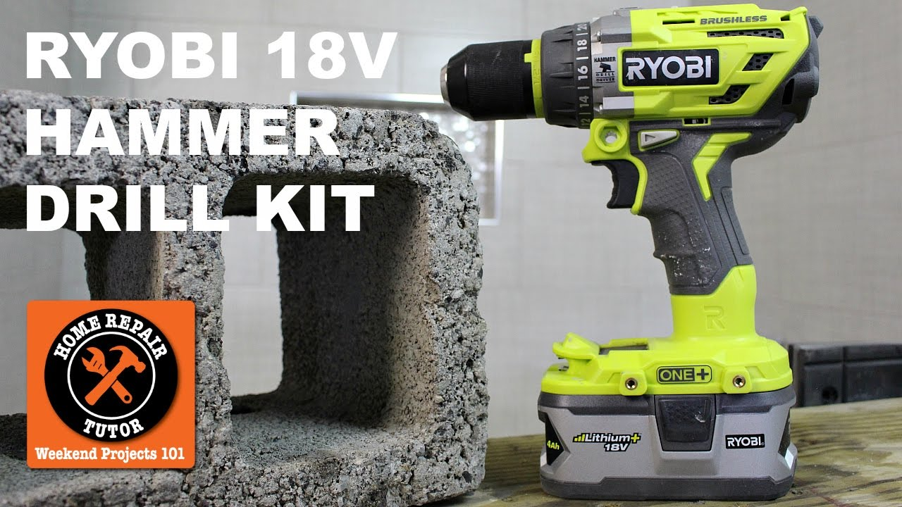 Ryobi 18V Brushless Hammer Drill Kit (Affordable Power)