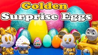 SURPRISE EGGS Golden Surprise Eggs Mickey Mouse Clubhouse Thomas the Train and Paw Patrol Surprise E