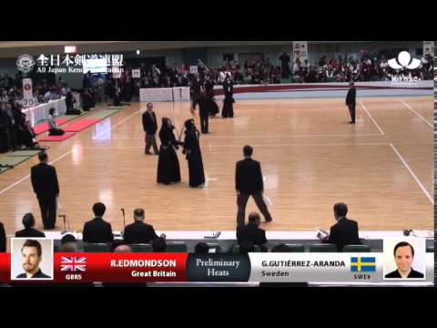 (GBR5)R.EDMONDSON M-eMM G.GUTIÉRREZ-ARANDA(SWE6) - 16th World Kendo Championships - Men's Individual