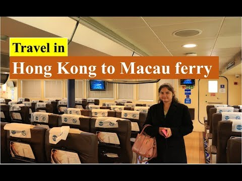 Travel in Hong Kong to Macau Ferry