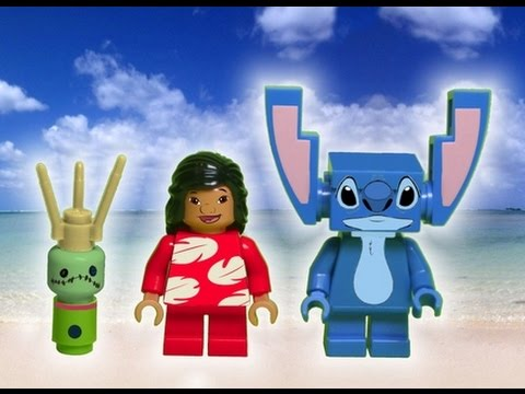 Disney Angie Lilo Stitch Cartoon Animated Movie Custom Lego Mini Figure Toy