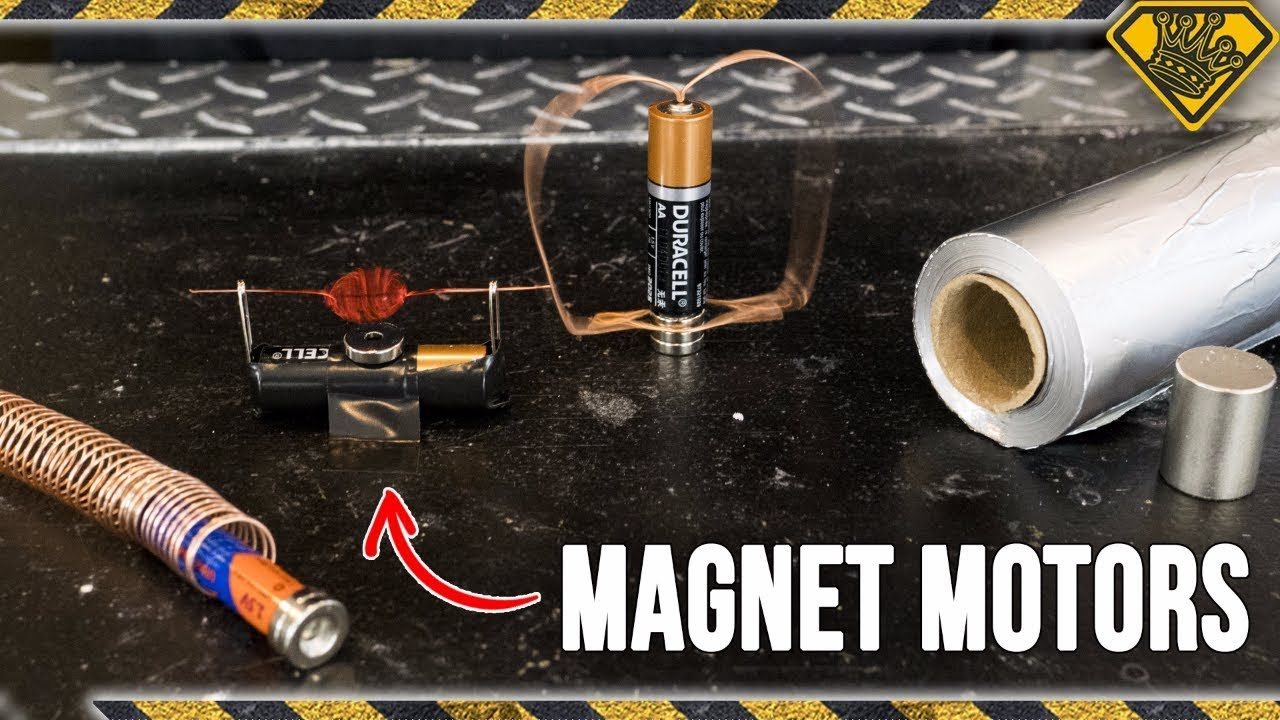 4 Simple Magnet Motors You Can Make At Home Youtube