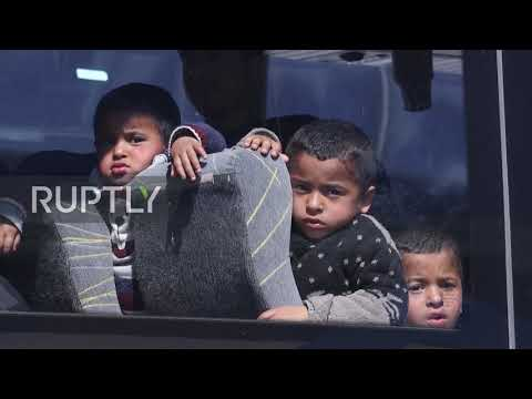 Greece: Hundreds of migrants moved to new camp near Bulgarian border